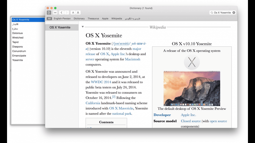 BetterDictionary for Mac - review, screenshots
