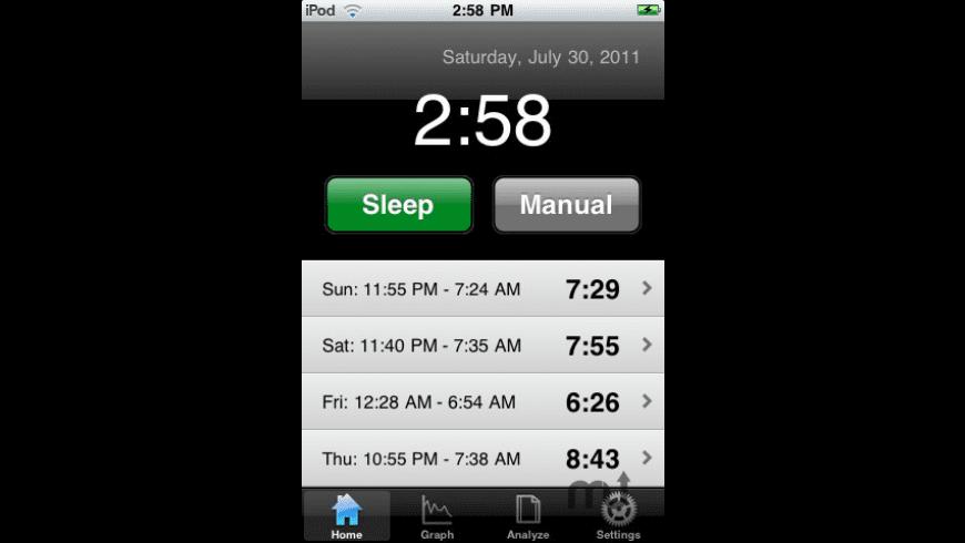 Sleep Tracker for Mac - review, screenshots