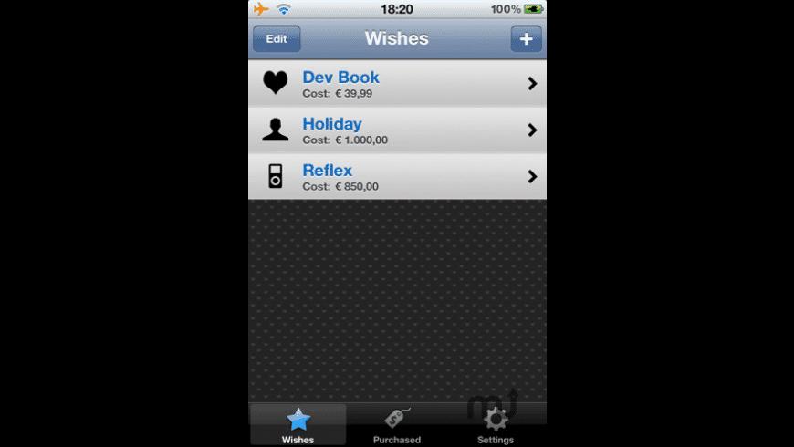 WishOnList  for Mac - review, screenshots