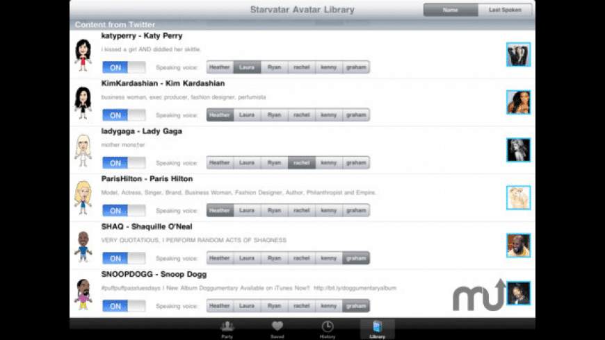 Starvatar for Mac - review, screenshots