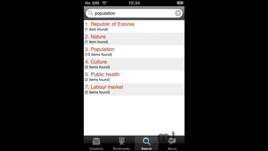 Minifacts about Estonia for Mac - review, screenshots
