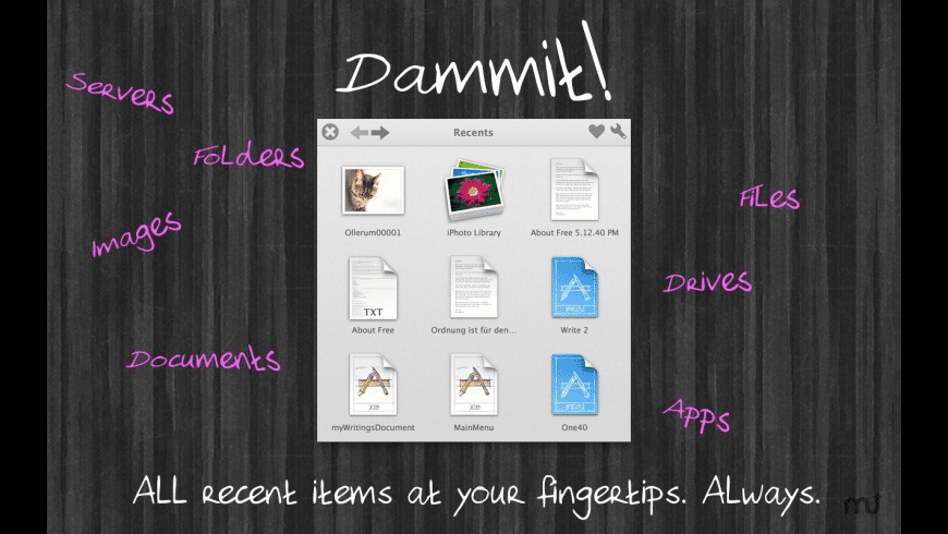 Dammit for Mac - review, screenshots