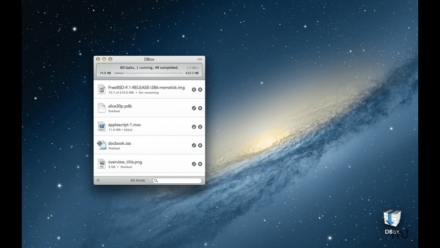 DBox for Mac - review, screenshots