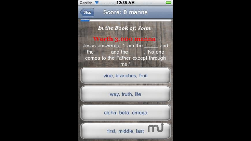 Biblicious Bible Trivia for Mac - review, screenshots