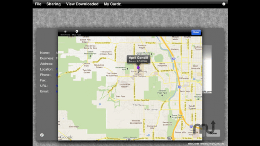 eBizCardz for Mac - review, screenshots