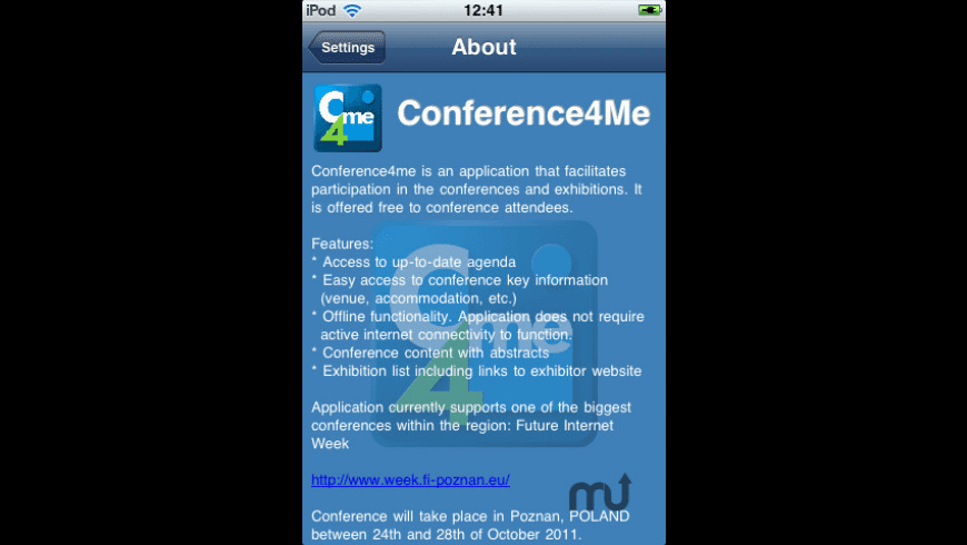 Conference4me for Mac - review, screenshots