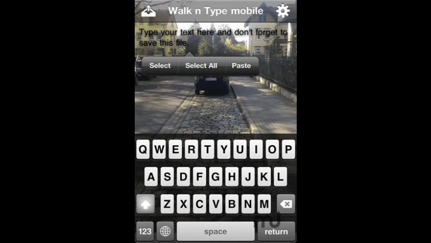 Walk n Type mobile for Mac - review, screenshots