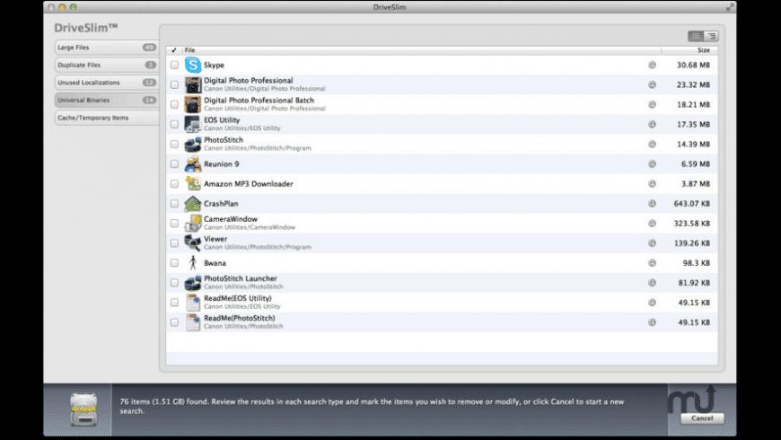 DriveSlim for Mac - review, screenshots