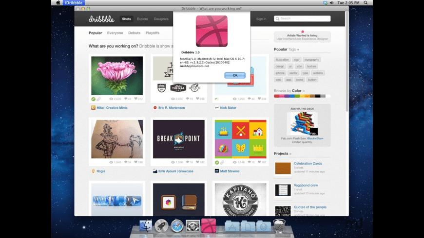 iDribbble for Mac - review, screenshots