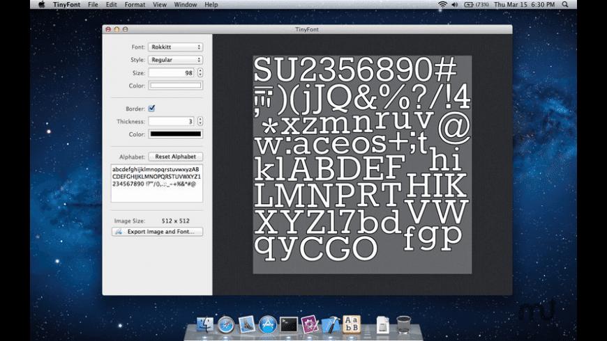 TinyFont for Mac - review, screenshots