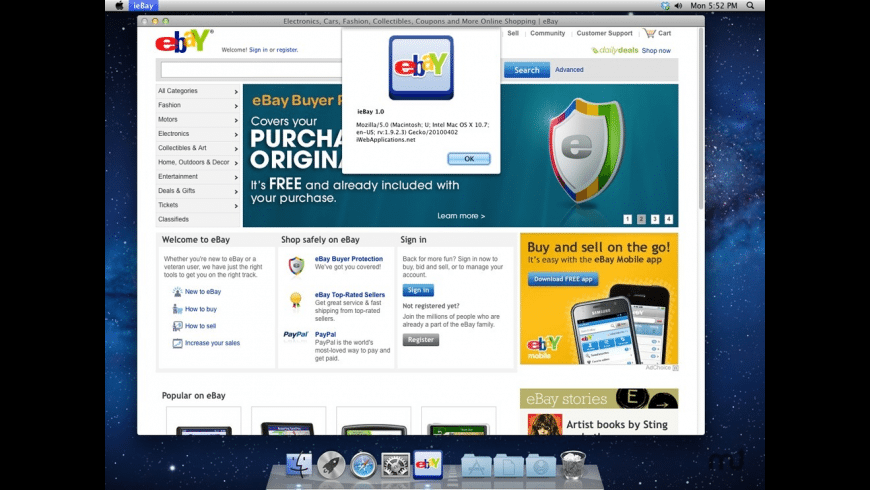 ieBay for Mac - review, screenshots