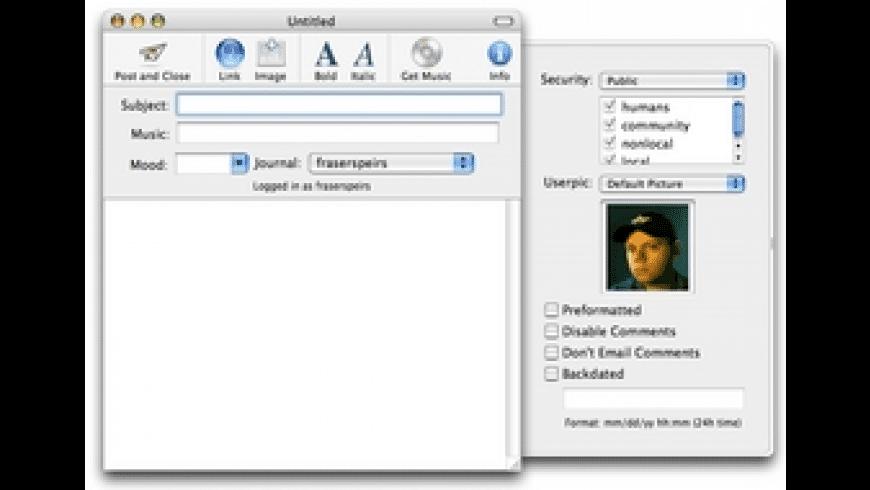 Xjournal for Mac - review, screenshots