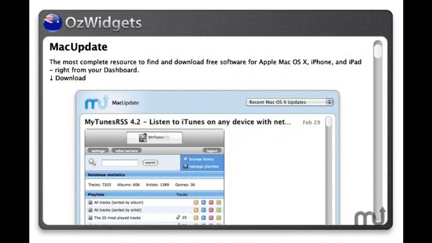 OzWidgets for Mac - review, screenshots