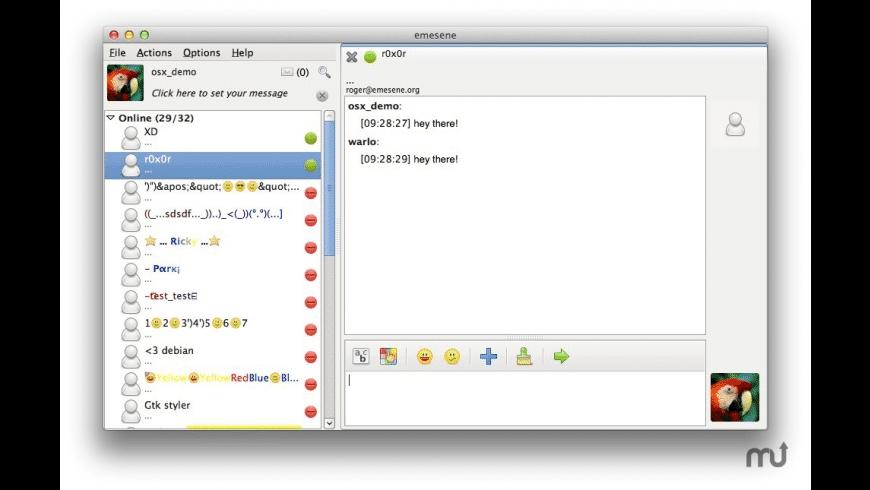 emesene for Mac - review, screenshots