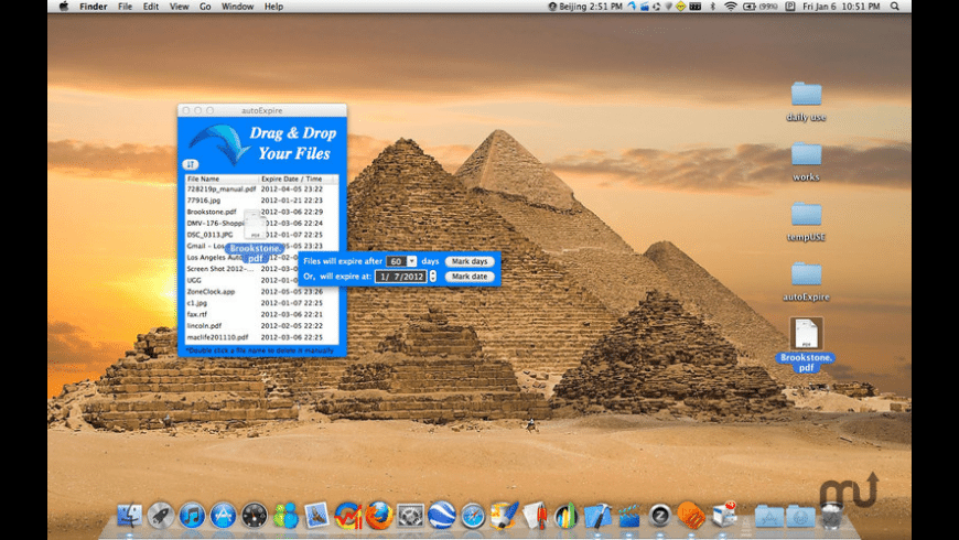 autoExpire for Mac - review, screenshots