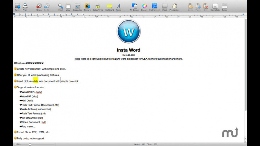 iWrite for Mac - review, screenshots