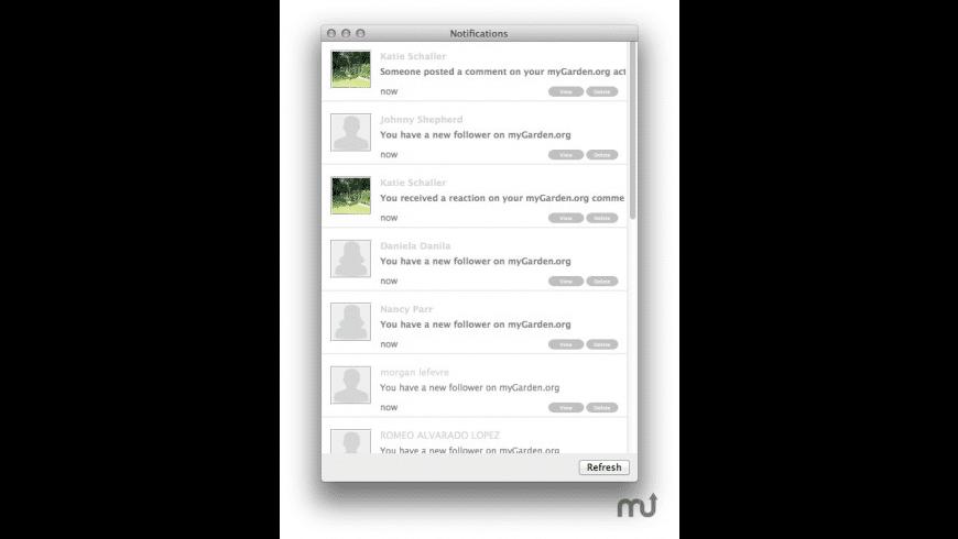 MyGarden.org MenuBar for Mac - review, screenshots