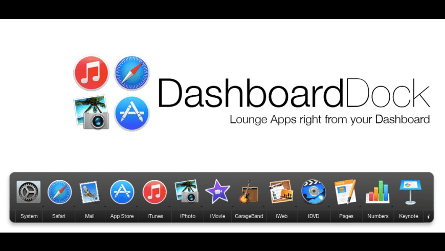 DashboardDock for Mac - review, screenshots