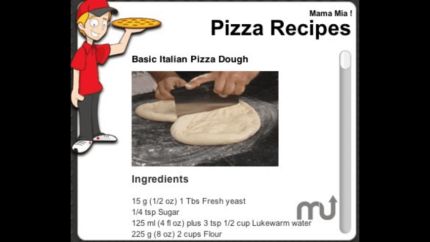 Pizza Recipes Widget for Mac - review, screenshots