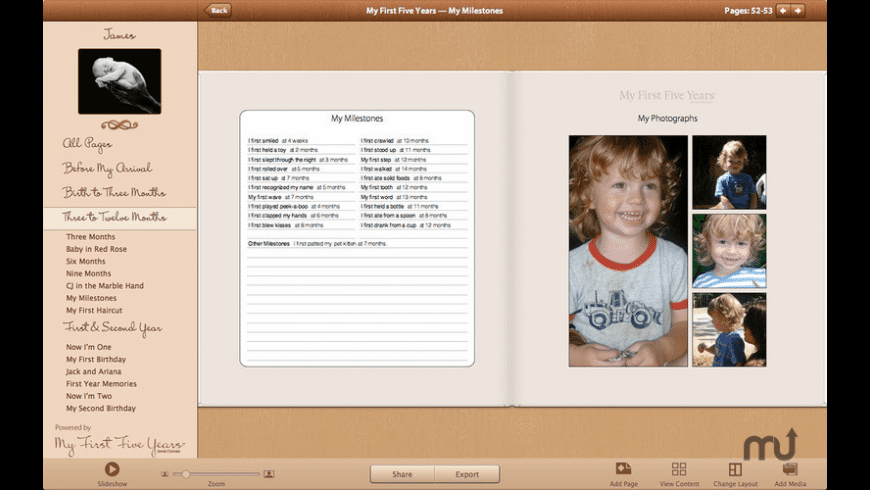 My First Five Years for Mac - review, screenshots