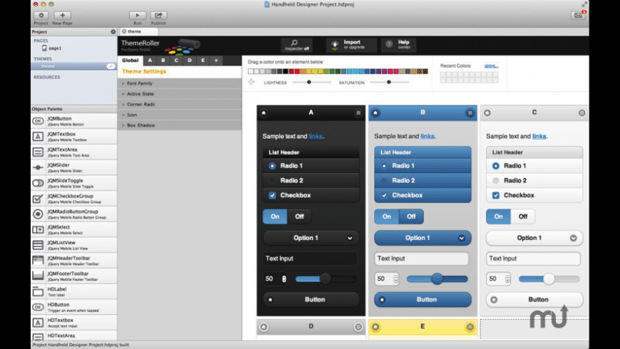 Handheld Designer for Mac - review, screenshots