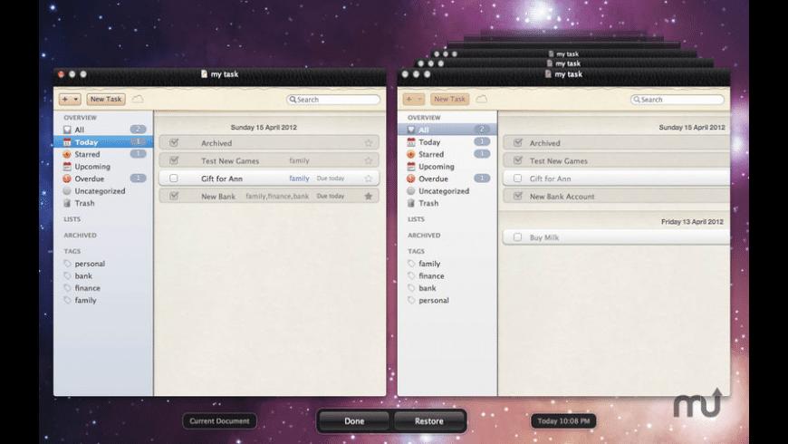 Activity for Mac - review, screenshots