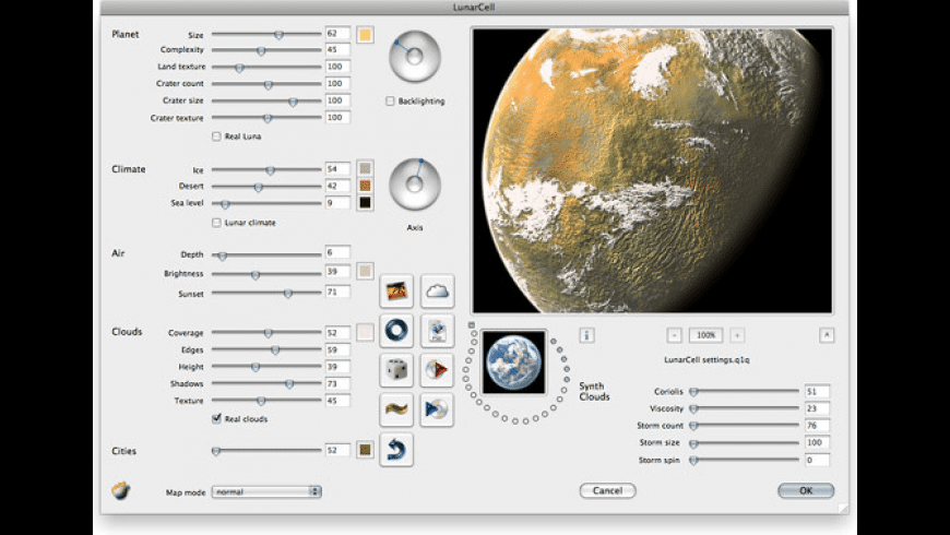 LunarCell for Mac - review, screenshots
