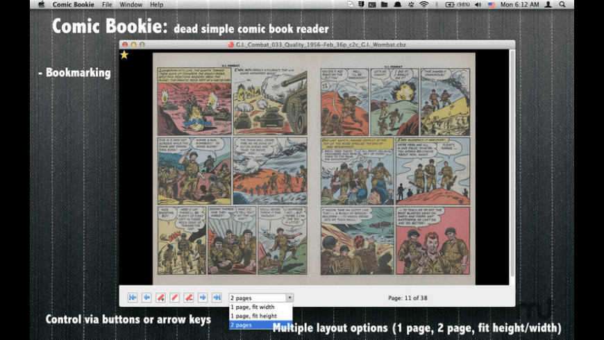 Comic Bookie for Mac - review, screenshots