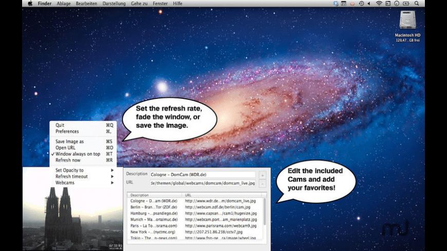 WebCamAddict for Mac - review, screenshots