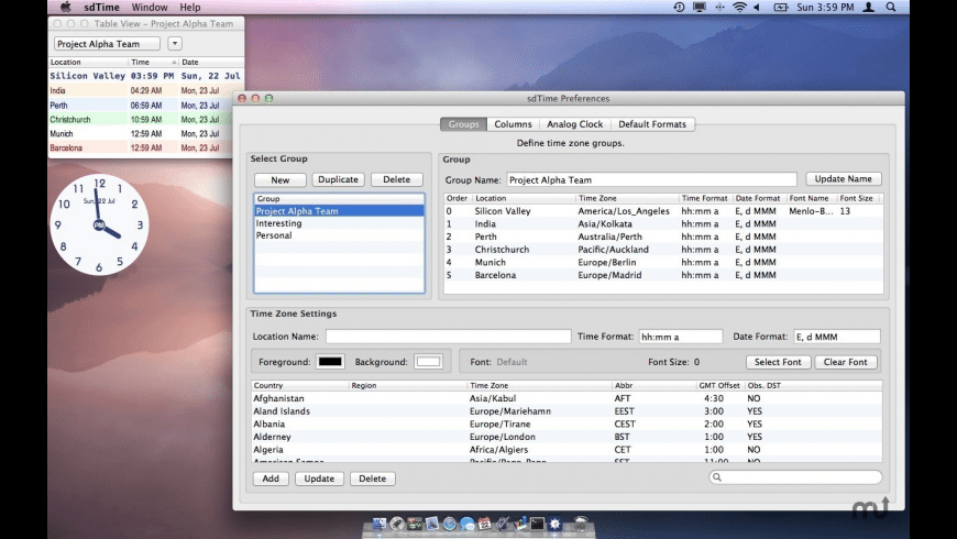 sdTime for Mac - review, screenshots