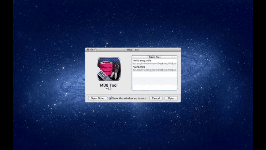 MDB Tool for Mac - review, screenshots
