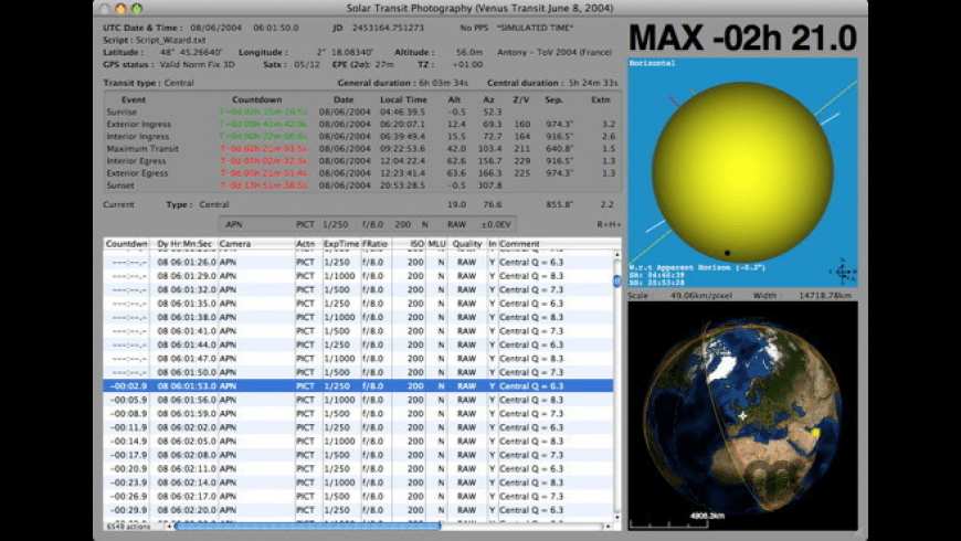 Mercury Venus Transit Maestro for Mac - review, screenshots