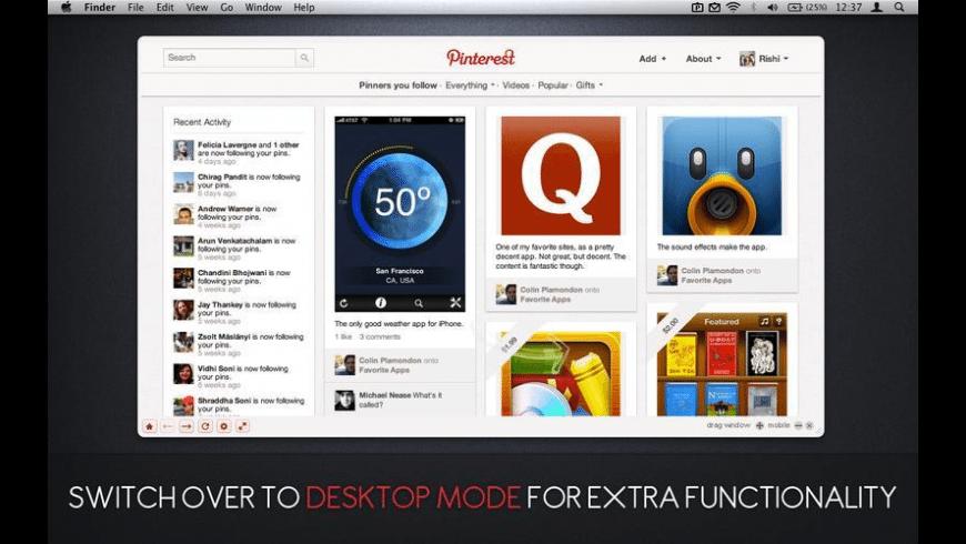 Pin Pro for Pinterest for Mac - review, screenshots