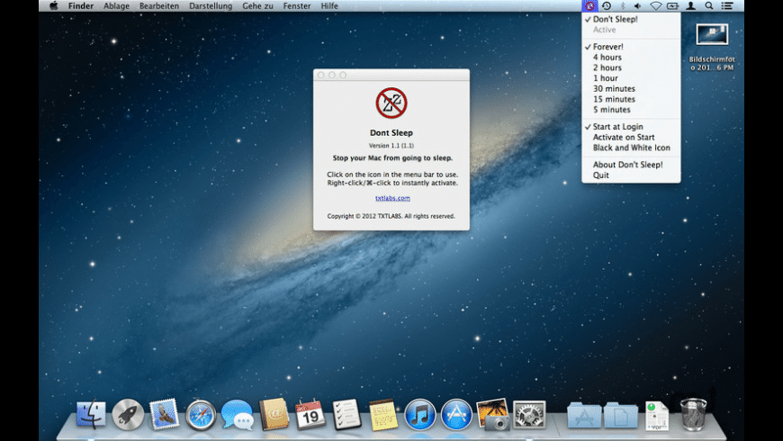 Don't Sleep! for Mac - review, screenshots