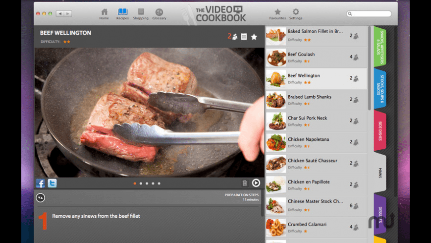 The Video Cookbook for Mac - review, screenshots
