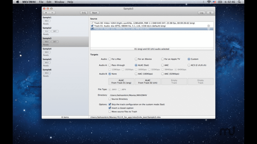 MKV2M4V for Mac - review, screenshots