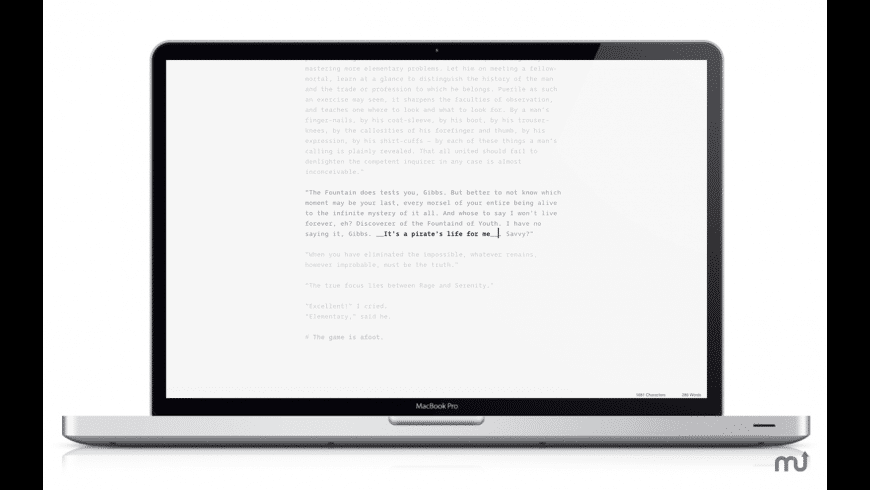 next Writer for Mac - review, screenshots