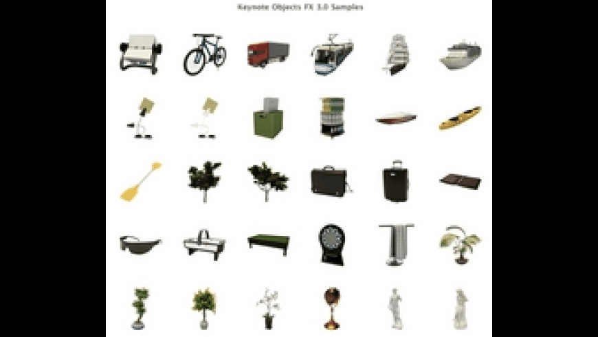 Keynote Objects FX for Mac - review, screenshots