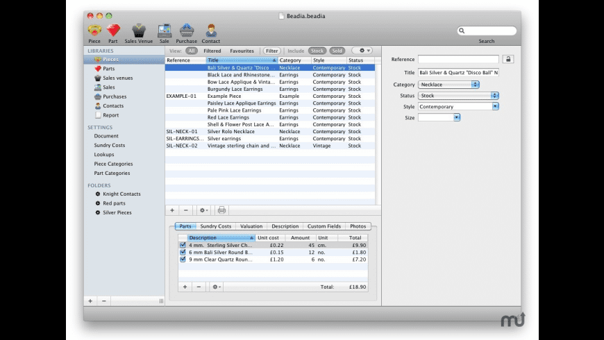 Beadia for Mac - review, screenshots