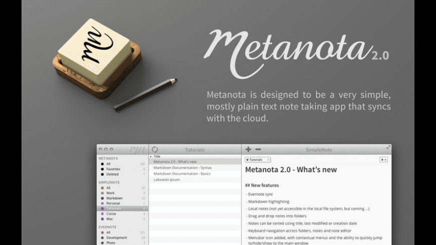 Metanota Pro for Mac - review, screenshots