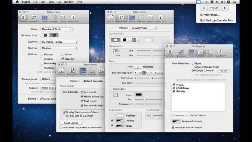 Desktop Calendar Plus for Mac - review, screenshots