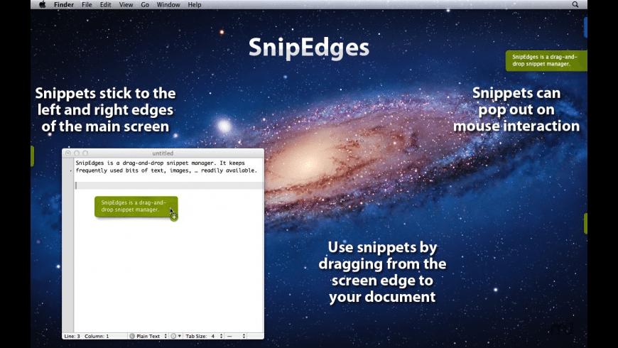 SnipEdges for Mac - review, screenshots