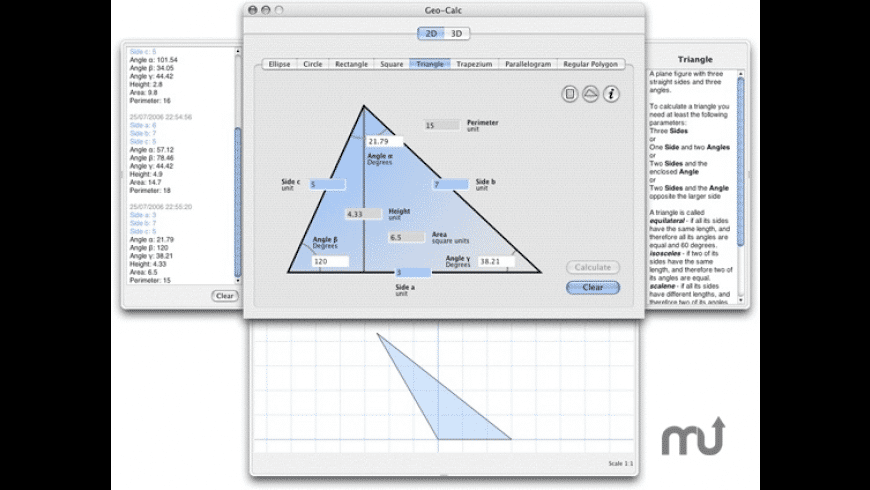 Geo-Calc for Mac - review, screenshots