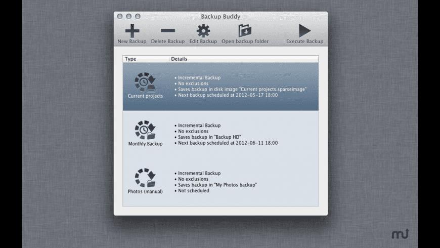 Backup Buddy for Mac - review, screenshots