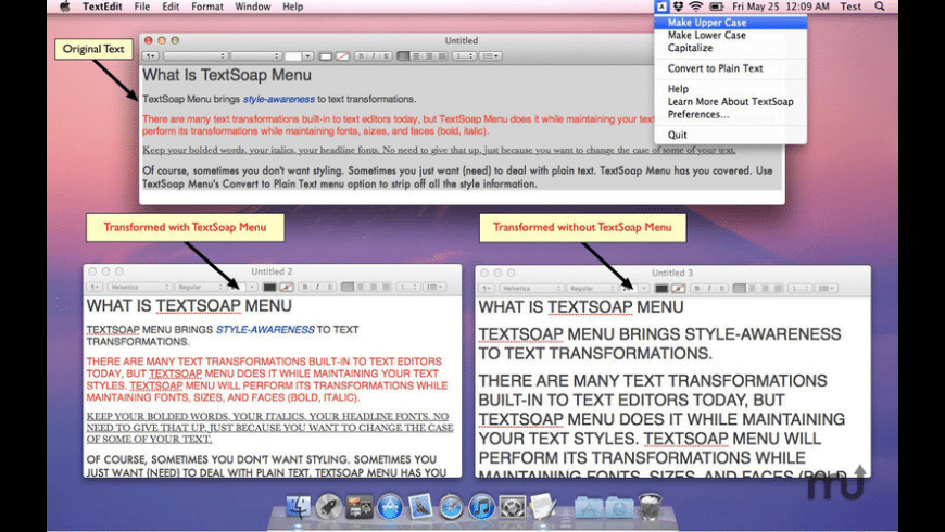 TextSoap Menu for Mac - review, screenshots