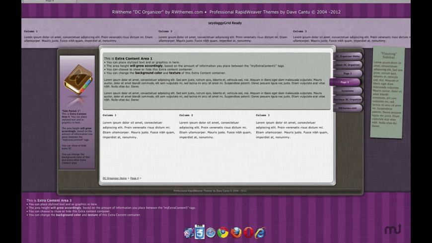 DC Organizer for Mac - review, screenshots