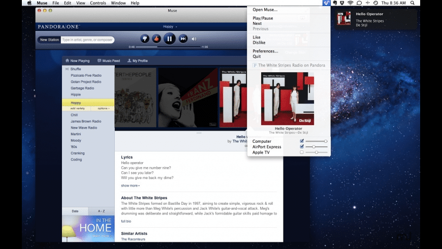 Muse for Mac - review, screenshots