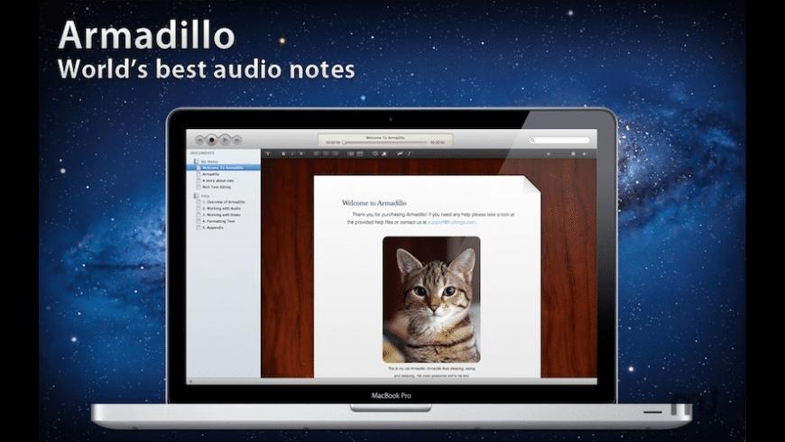 Armadillo Audio Notes for Mac - review, screenshots