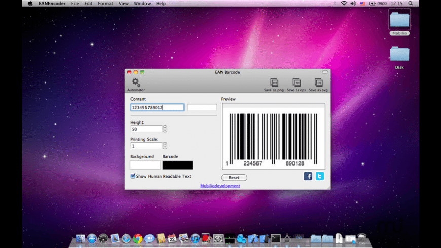EANEncoder for Mac - review, screenshots