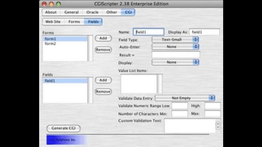 CGIScripter for Mac - review, screenshots